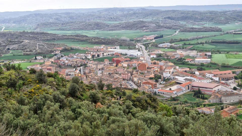 Vista del poble des de l'Aguda