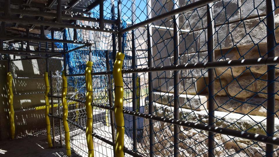 Els despreniments van obligar a posar proteccions a la Torre - Ivorra