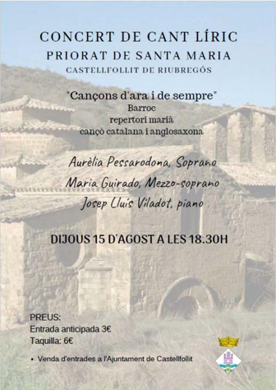 concertl Festa major d'estiu de Castellfollit de Riubregós 2019 - Castellfollit de Riubregós