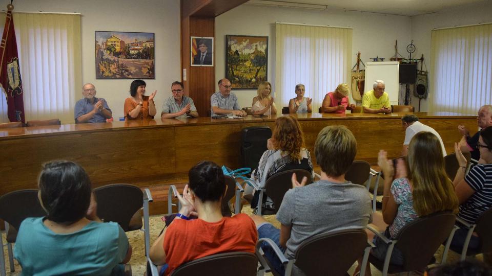 29.08.2019 Acte de reconeixement a 3 entitats locals  Torà -  Ramon Sunyer