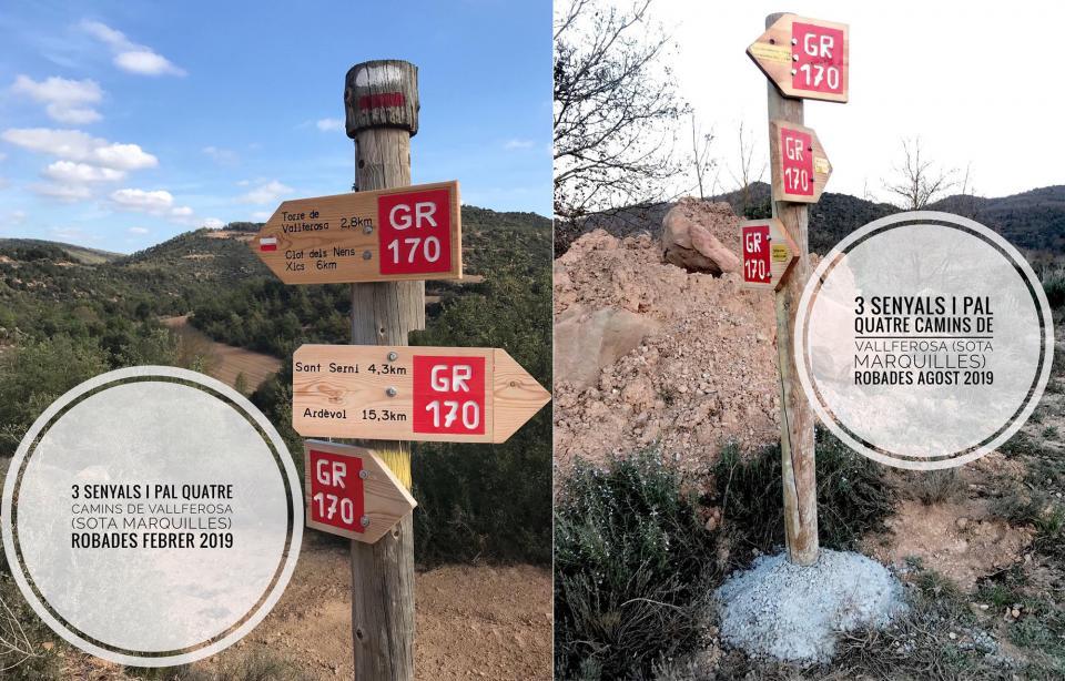 Senyalització robada a Marquilles - Torà