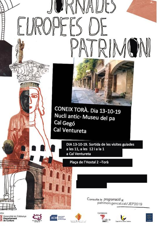 cartell JEP Visites guiades a Torà - Torà