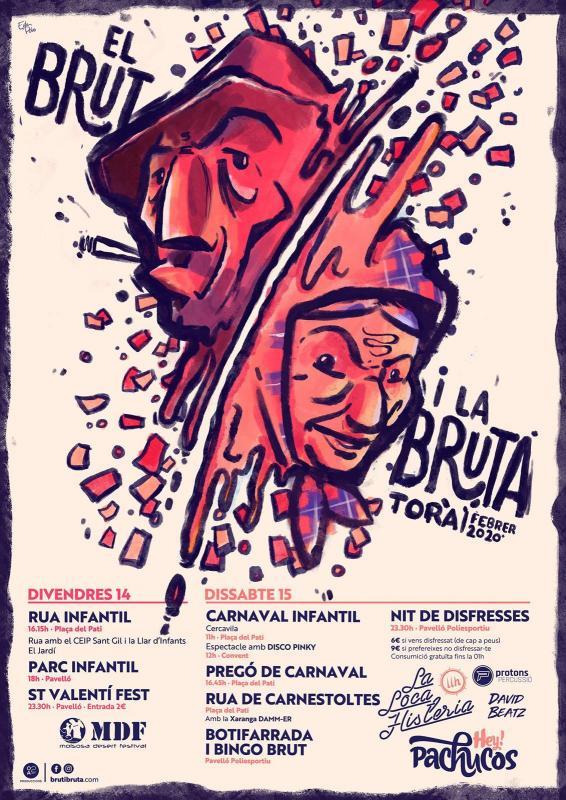 14.02.2020 cartell  Torà -  brutibruta