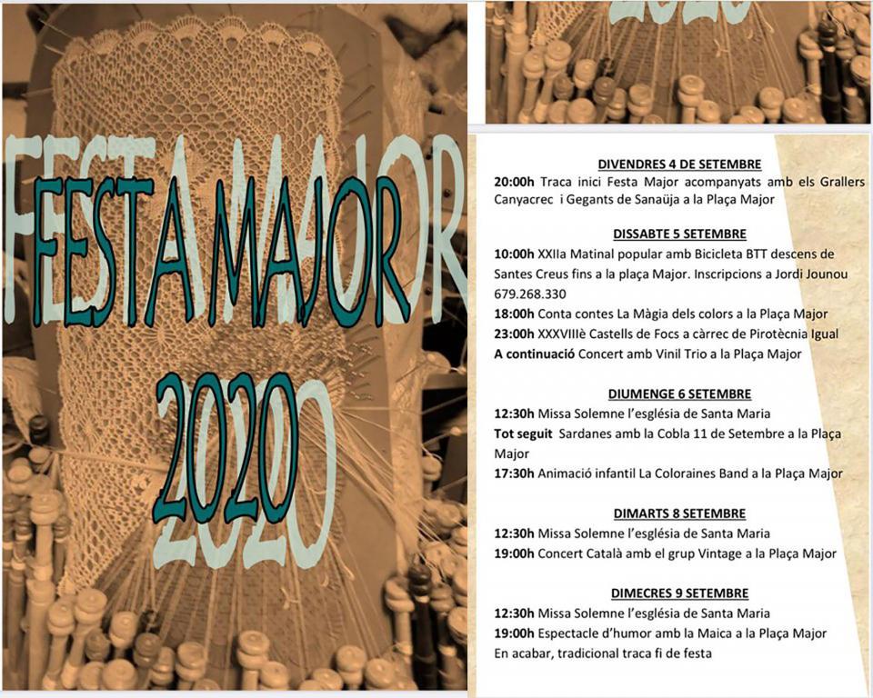 cartell Festa Major de Sanaüja 2020