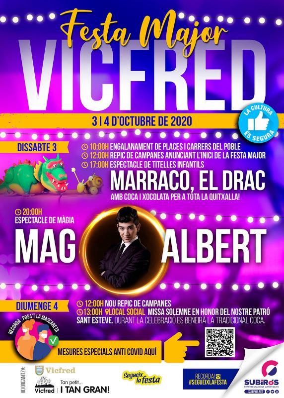cartell Festa Major de Vicfred 2020