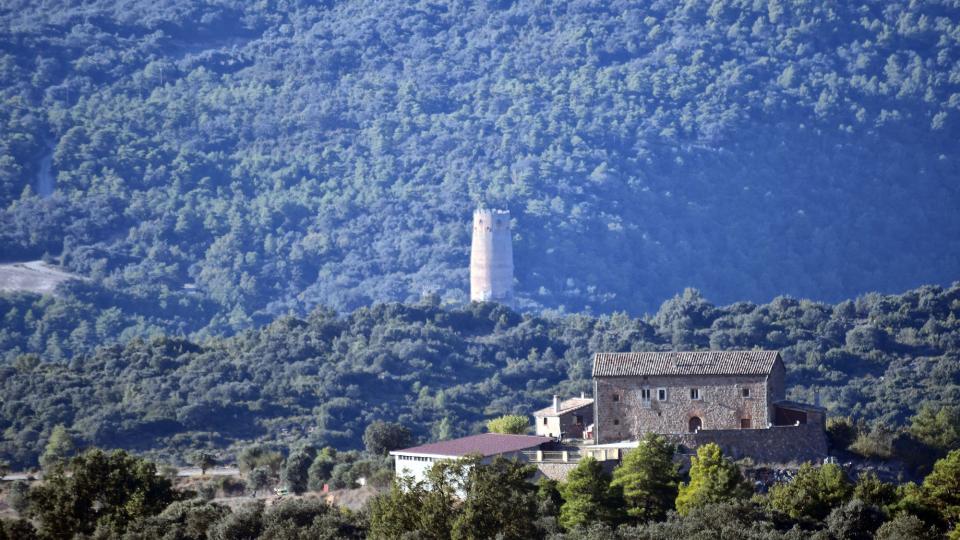 18.10.2020 vista de la torre de Vallferosa i mas Miralles  Sant Serni -  Ramon Sunyer