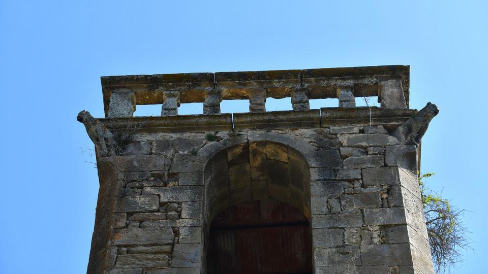 05.04.2021 Església de Sant Pere campanar  Vallferosa -  Ramon Sunyer