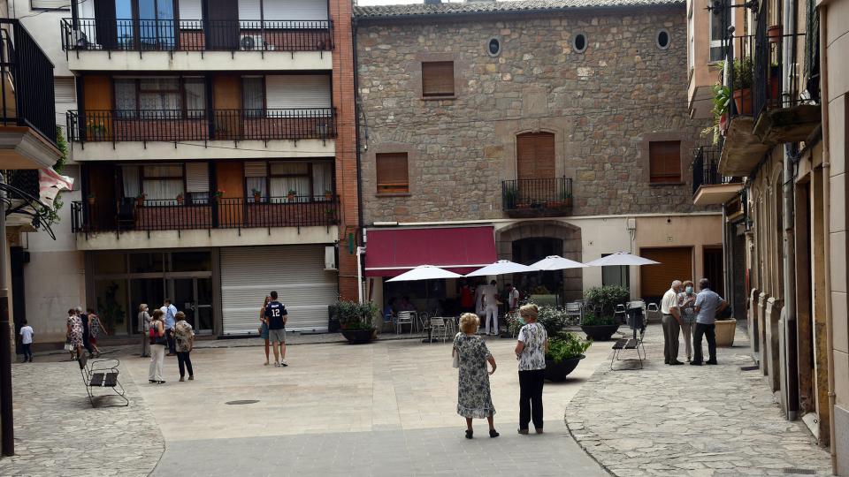 01.09.2021 La plaça del Pati, enguany sense dansa  Torà -  Ramon Sunyer