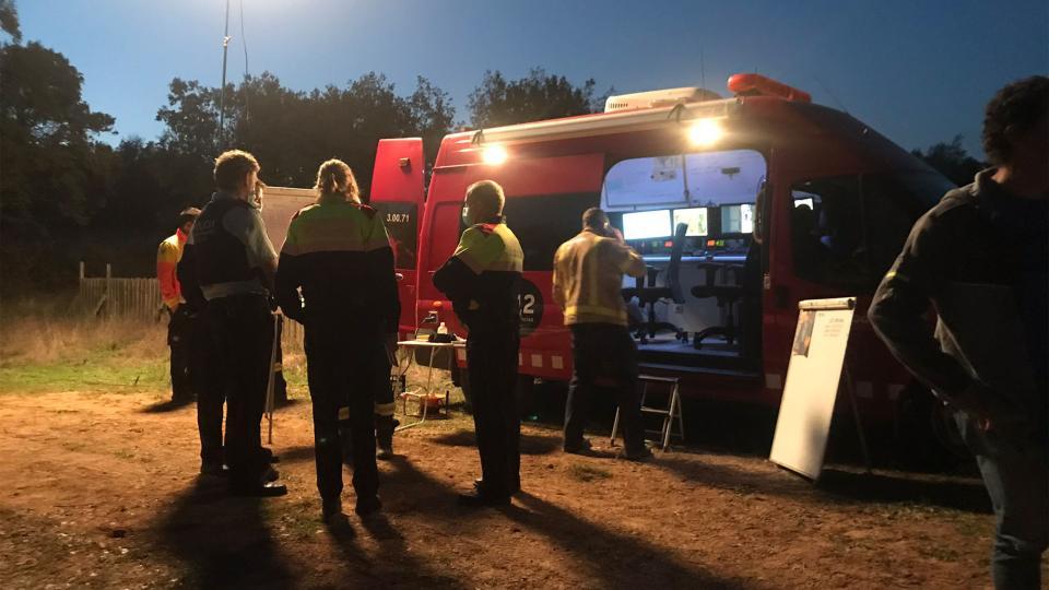 Els treballs de cerca no es va aturar amb l'arribada de la nit Foto: consell comarcal solsonès - Llanera