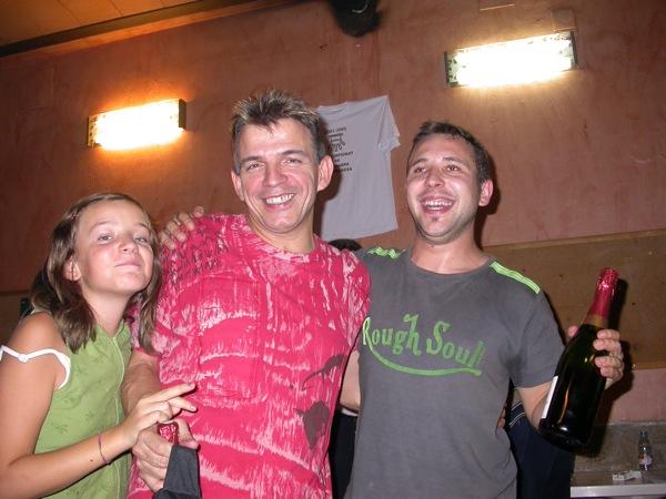 03.09.2005 J. Garcia i Xavier Font amb el premi de Quarts de finals  Torà -  Ramon Sunyer