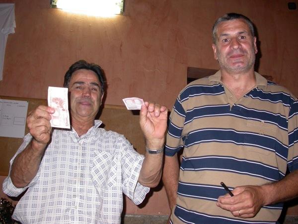 03.09.2005 Fructuós Gené i Josep Viladrich reben el premi com a semifinalistes  Torà -  Ramon Sunyer