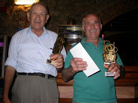03.09.2005 J. Aynés i J. Noguera, d'Enfesta i Biosca, reben el premi de campions  Torà -  Ramon Sunyer