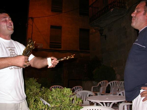 03.09.2005 Albert Romero i J. Maria Sunyer, sotscampions  Torà -  Ramon Sunyer