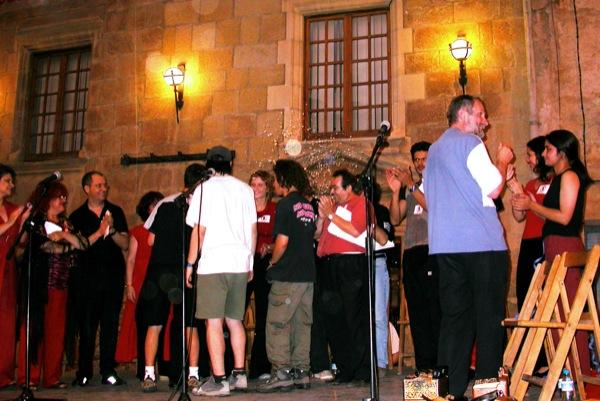 14.06.2003 Lectura de textos i poemes en solidaritat amb els tres joves  Torà -  Ramon Sunyer