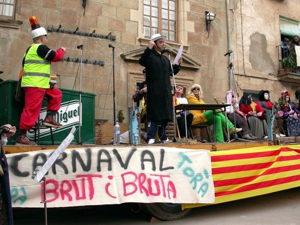 18.02.2006 El pregó pel grup Cremallera  Torà -  Ramon Sunyer