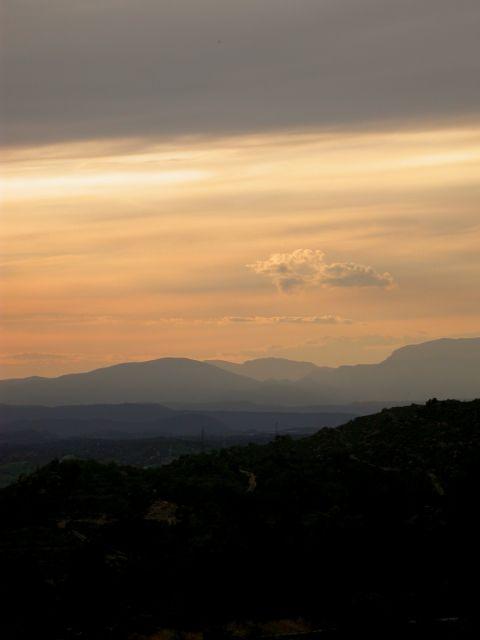 16.04.2006 Posta del sol al Montsec  L'Aguda -  Ramon Sunyer