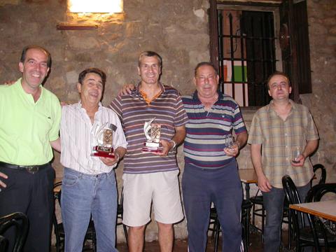 30.08.2008 Els finalistes amb el Celi, de la organització  Torà -  ramon sunyer