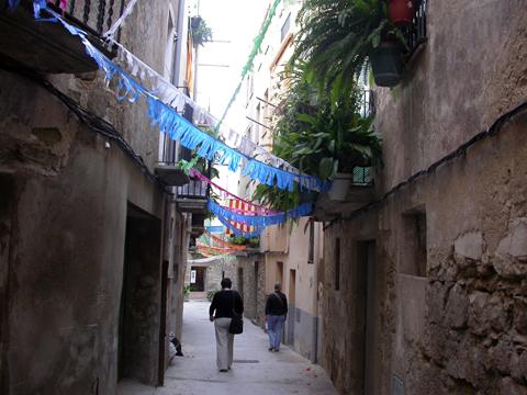 01.09.2008 carrer baix  Torà -  margarita bolea