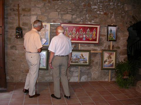 01.09.2008 Exposició de Pintures de Sebastià Coy  Torà -  margarita bolea