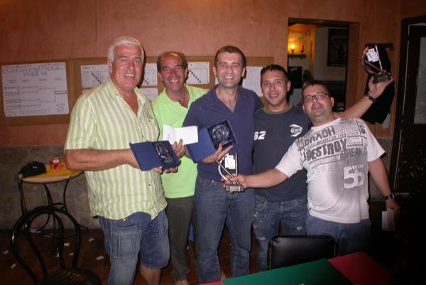 29.08.2009 d'esquerra a dreta: Jordi Torreguitart (campió), Celi Vila (organització), Jordi Vilà (campió), Xavi i Ramon Font (sotscampions)  Torà -  Ramon Sunyer