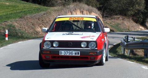 03.08.2008 Ferran Rossell i  Toni Padulles al seu primer rally  Avià -  JAZZINNOVATION
