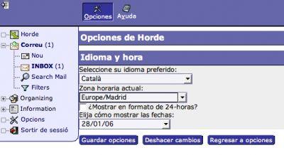 Configuració per català