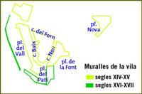 Muralles de la vila - Torà
