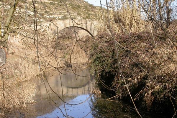 04.02.2005 Vista del Pont de les Merites des del riu  Torà -  Ramon Sunyer