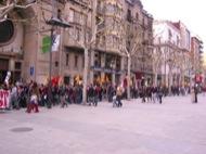 Lleida: Manifestació pels carrers  Josep Ma. Sunyer