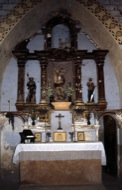 Fontanet: Detall del retaule de l'església  Ramon Sunyer