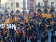 Gravació del Lip dub per la independència de Catalunya