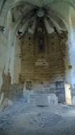 Llanera: Sant Martí de Llanera. Deplorable estat del seu saquejat interior. El seu retaule barroc es troba a l'església de l'Hostal Nou  Xavier Sunyer