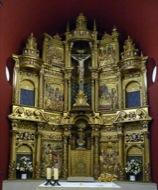 Llanera: Retaule de l'altar major de sant Martí de llanera, que l'any 1968