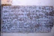 Claret: Inscripció a l'interior de l'església  Ramon Sunyer