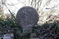 Fontanet: estela en una pared del cementiri  Ramon Sunyer