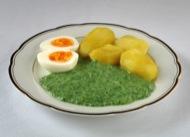 Crema d'ortigues amb patates i ou