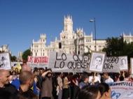 Concentració a Madrid
