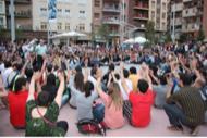 Lleida: Concentració a la plaça Ricard Vinyes