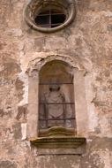 Sant Serni: detall de la imatge de sant serni  Ramon Sunyer