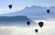 Igualada: Globus volant a Montserrat  Joan Felip