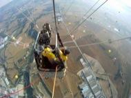 Igualada: vista aèria des del globus