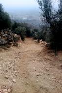 L'Aguda: Vista del nou camí  Ramon Sunyer