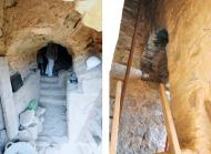 Vallferosa: Vistes de la porta exterior i interior durant les obres  Joan Menchon