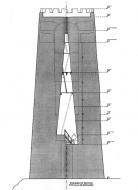 Vallferosa: Secció de la torre segons J. Aguirre  Joan Menchon