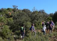 Puigredon: Iniciant la forta pujada al tossal del Puig-redon  Xavi