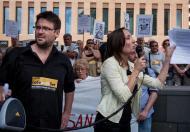 Els editors de la revista Cafè amb Llet, Albano Dante Fachin i Marta Sibina