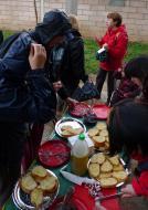 Torà: Per reposar forces: pa amb oli i fuet  Xavi