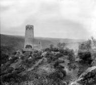 Vallferosa: La torre i el poble de Vallferosa des dels afores  Cèsar August Torras