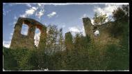 Madrona: Campanar i restes d'edificis  Ramon Sunyer