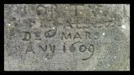 Sant Climenç: detall inscripció  Ramon Sunyer